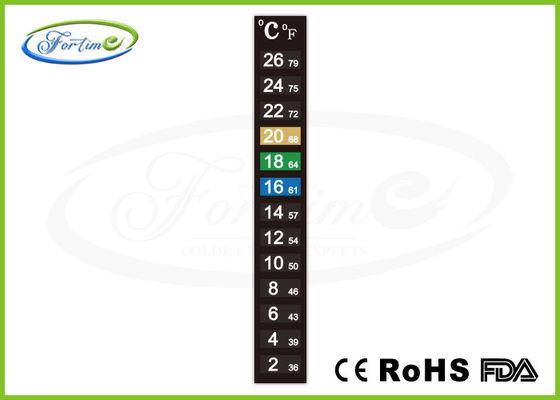 Le meilleur Bande changeante de thermomètre de couleur sensible à la chaleur de haute précision pour la température ambiante de mesure