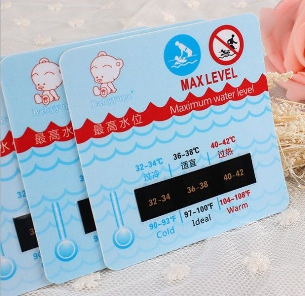 "Special baby shower bath liquid crystal color ""heat card"" thermometer"